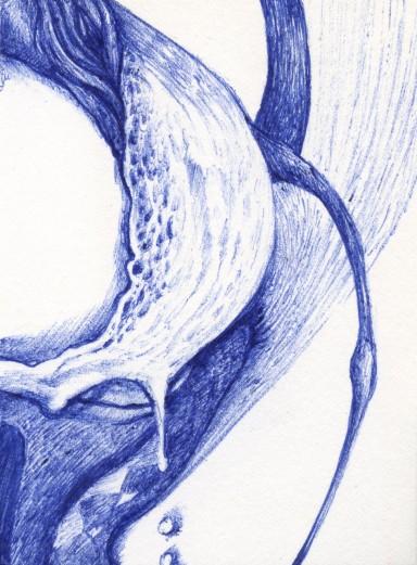 blue pen drawing 08