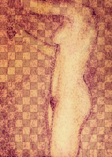 nude under checkered